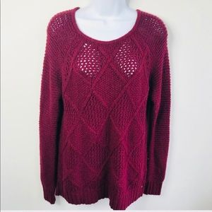 American Eagle Burgundy Sweater Size Small
